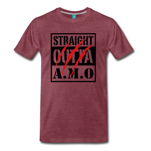 Straight Outta A.M.O T-Shirt - heather burgundy