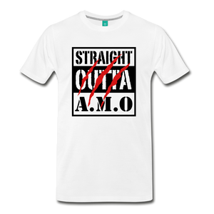 Straight Outta A.M.O T-Shirt - white