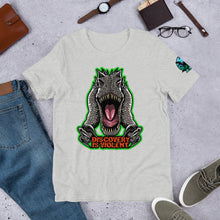 Load image into Gallery viewer, Discovery Is Violent  (Green) Indominus Rex - T-Shirt
