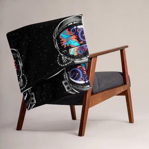 Cosmic Ocean Helmet - Throw Blanket