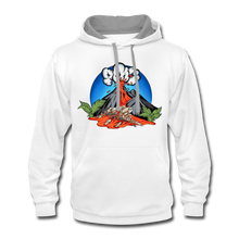 Load image into Gallery viewer, Eruption - Contrast Hoodie - white/gray