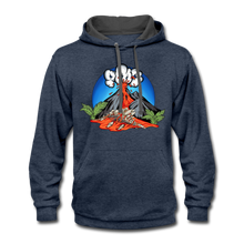 Load image into Gallery viewer, Eruption - Contrast Hoodie - indigo heather/asphalt