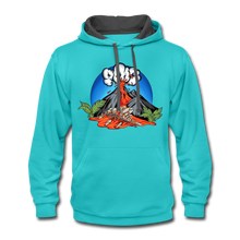 Load image into Gallery viewer, Eruption - Contrast Hoodie - scuba blue/asphalt