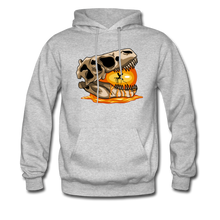 Load image into Gallery viewer, Amber Skull - Hoodie - heather gray