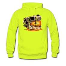 Load image into Gallery viewer, Amber Skull - Hoodie - safety green