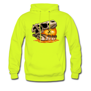 Amber Skull - Hoodie - safety green