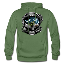 Load image into Gallery viewer, Brewed in Space - Heavy Blend Hoodie - military green