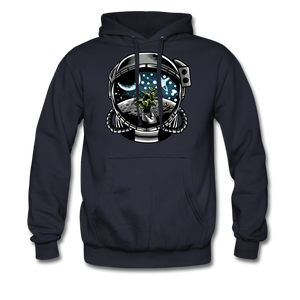 Brewed in Space - Heavyweight Hoodie - navy