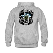 Load image into Gallery viewer, Brewed in Space - Heavyweight Hoodie - heather grey