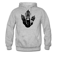 Load image into Gallery viewer, Logo Paw - Heavyweight Hoodie - heather grey