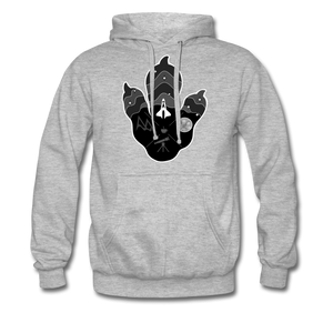 Logo Paw - Heavyweight Hoodie - heather grey