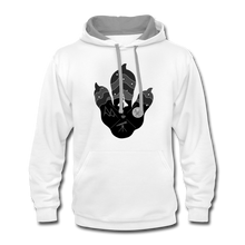 Load image into Gallery viewer, Logo Paw - Contrast Hoodie - white/gray