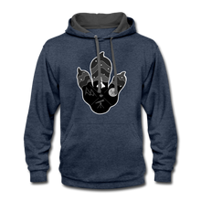 Load image into Gallery viewer, Logo Paw - Contrast Hoodie - indigo heather/asphalt
