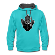 Load image into Gallery viewer, Logo Paw - Contrast Hoodie - scuba blue/asphalt
