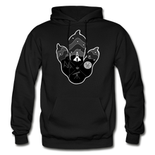 Load image into Gallery viewer, Logo Paw - Heavy Blend Hoodie - black