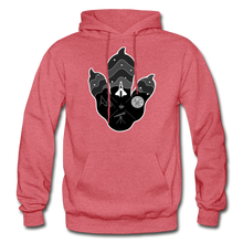 Load image into Gallery viewer, Logo Paw - Heavy Blend Hoodie - heather red