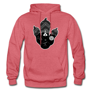 Logo Paw - Heavy Blend Hoodie - heather red