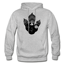 Load image into Gallery viewer, Logo Paw - Heavy Blend Hoodie - heather gray