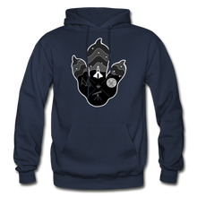 Load image into Gallery viewer, Logo Paw - Heavy Blend Hoodie - navy
