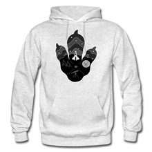 Load image into Gallery viewer, Logo Paw - Heavy Blend Hoodie - light heather gray