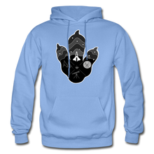 Load image into Gallery viewer, Logo Paw - Heavy Blend Hoodie - carolina blue