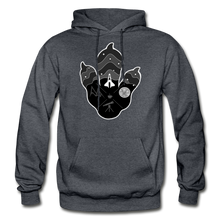 Load image into Gallery viewer, Logo Paw - Heavy Blend Hoodie - charcoal gray