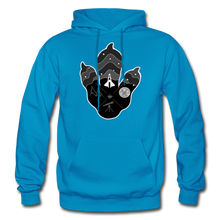 Load image into Gallery viewer, Logo Paw - Heavy Blend Hoodie - turquoise