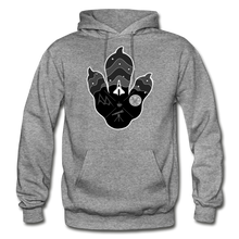 Load image into Gallery viewer, Logo Paw - Heavy Blend Hoodie - graphite heather