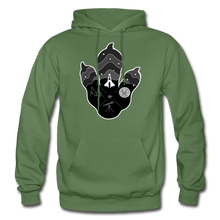 Load image into Gallery viewer, Logo Paw - Heavy Blend Hoodie - military green