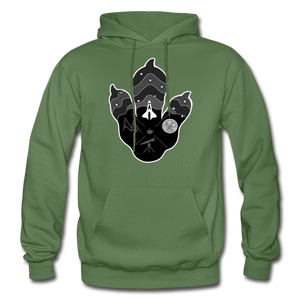 Logo Paw - Heavy Blend Hoodie - military green