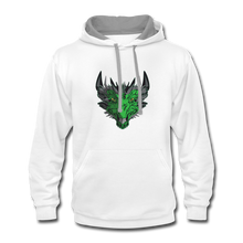 Load image into Gallery viewer, Ryze Up - Contrast Hoodie - white/gray
