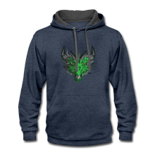 Load image into Gallery viewer, Ryze Up - Contrast Hoodie - indigo heather/asphalt