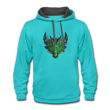 Load image into Gallery viewer, Ryze Up - Contrast Hoodie - scuba blue/asphalt