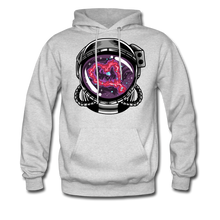 Load image into Gallery viewer, Heart Nebula - Midweight Hoodie - ash