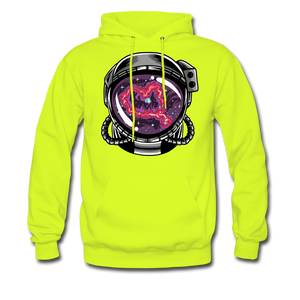 Heart Nebula - Midweight Hoodie - safety green