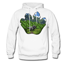 Load image into Gallery viewer, Triceratops - Midweight Hoodie - white