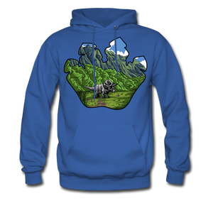 Triceratops - Midweight Hoodie - royal blue
