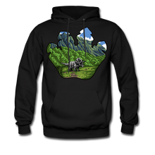 Load image into Gallery viewer, Triceratops - Midweight Hoodie - black