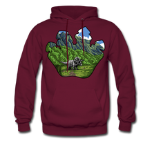 Load image into Gallery viewer, Triceratops - Midweight Hoodie - burgundy