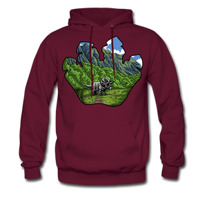 Triceratops - Midweight Hoodie - burgundy