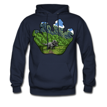 Load image into Gallery viewer, Triceratops - Midweight Hoodie - navy