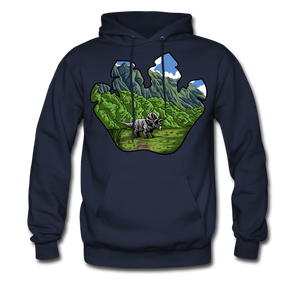 Triceratops - Midweight Hoodie - navy