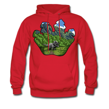 Load image into Gallery viewer, Triceratops - Midweight Hoodie - red