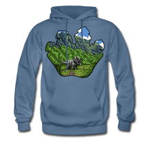Load image into Gallery viewer, Triceratops - Midweight Hoodie - denim blue
