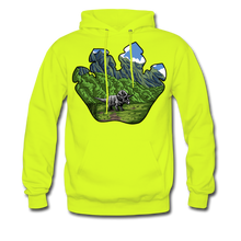 Load image into Gallery viewer, Triceratops - Midweight Hoodie - safety green