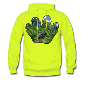 Triceratops - Midweight Hoodie - safety green