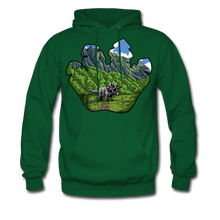 Load image into Gallery viewer, Triceratops - Midweight Hoodie - forest green