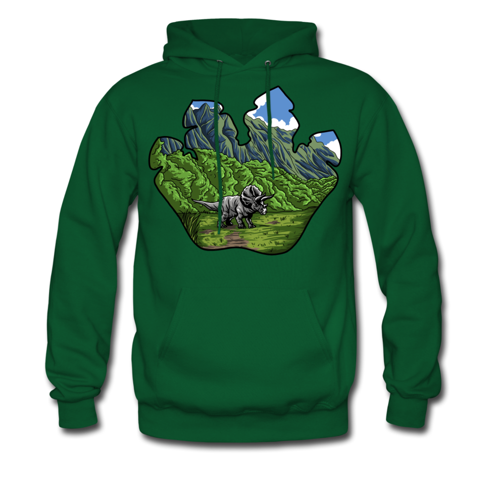 Triceratops - Midweight Hoodie - forest green