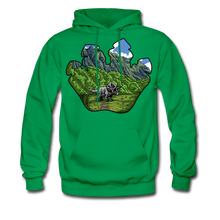 Load image into Gallery viewer, Triceratops - Midweight Hoodie - kelly green
