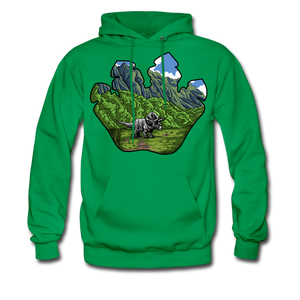 Triceratops - Midweight Hoodie - kelly green